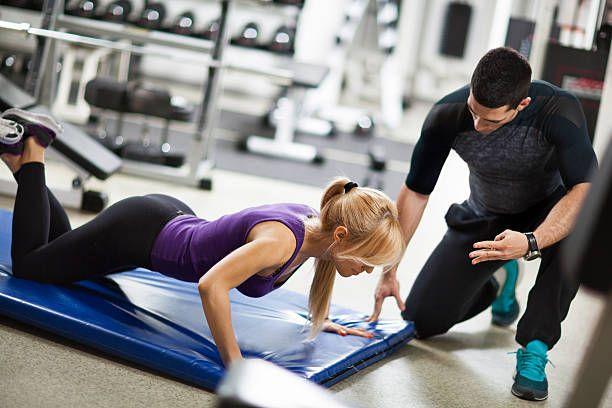 gym instructor teaching